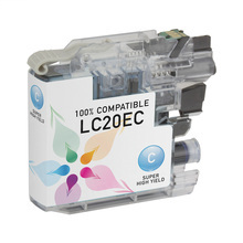 Compatible LC20EC Super High Yield Cyan Ink Cartridge for Brother