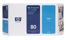 Original HP 80 Cyan Ink Cartridge in Retail Packaging (C4872A) 175ml