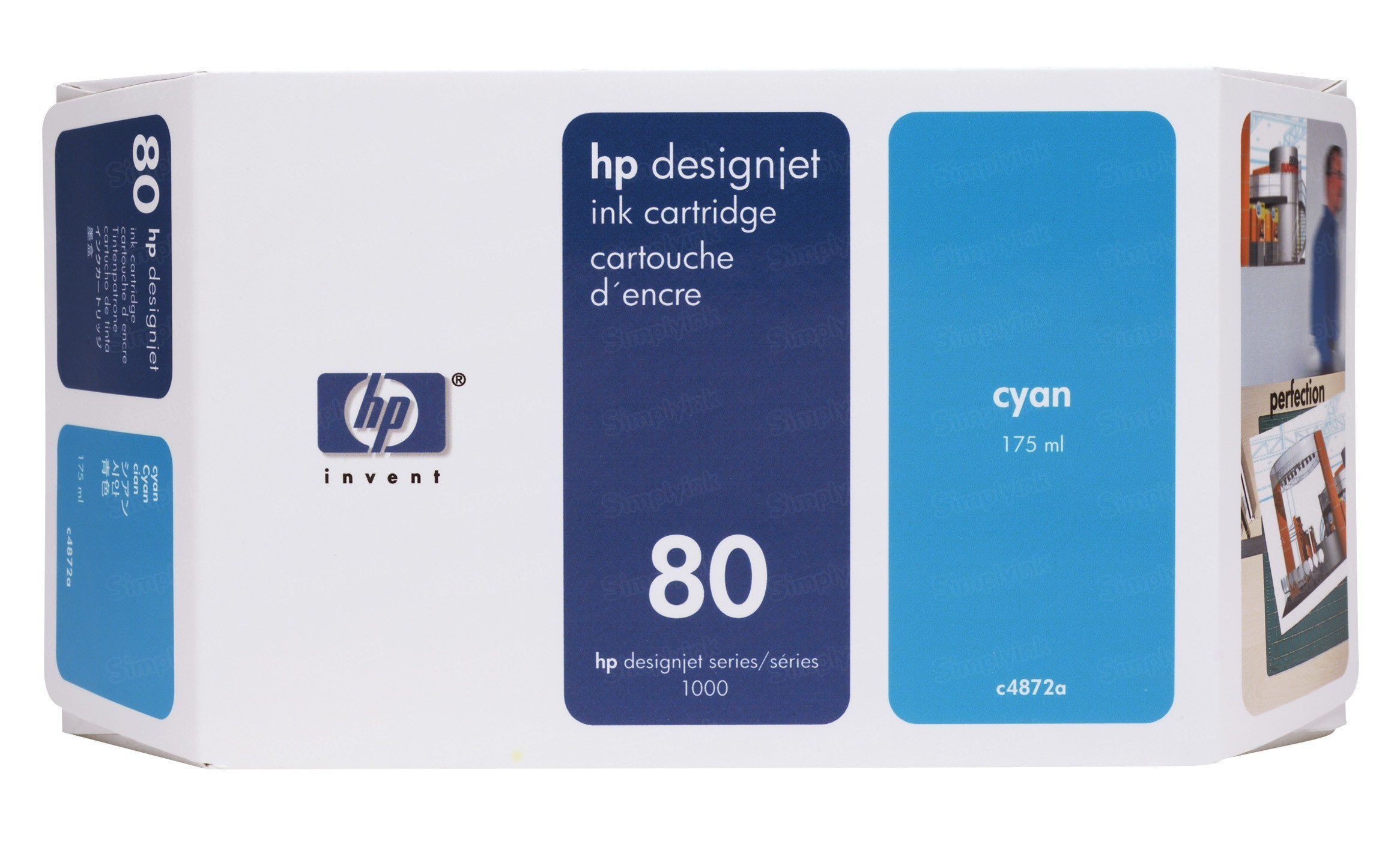HP 80 Cyan Original Ink Cartridge C4872A