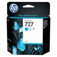 Original HP 727 Cyan Ink Cartridge in Retail Packaging (B3P13A)