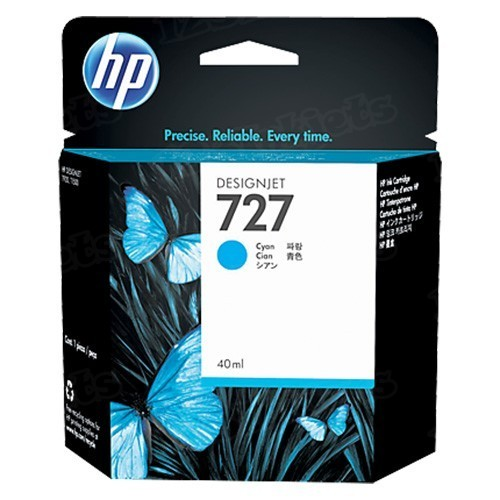 HP 727 Cyan Original Ink Cartridge B3P13A