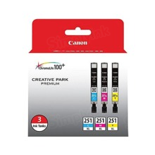 Canon CLI-251XL OEM Ink Cartridge Color 3-Pack, 6449B009