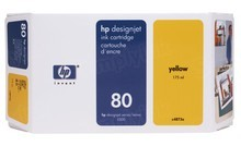 Original HP 80 Yellow Ink Cartridge in Retail Packaging (C4873A) 175ml