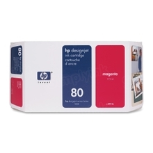 Original HP 80 Magenta Ink Cartridge in Retail Packaging (C4874A) 175ml