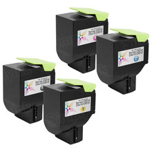 Lexmark Remanufactured 801S High Yield (Black, Cyan, Magenta, Yellow) Laser Toner Cartridge Set of 4