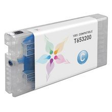 Compatible Replacement for Epson T653200 (T6532) Cyan 200ml Ink Cartridges for the Stylus Pro 4900