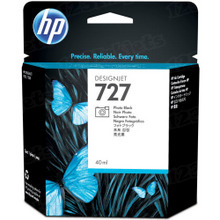 Original HP 727 Photo Black Ink Cartridge in Retail Packaging (B3P17A)