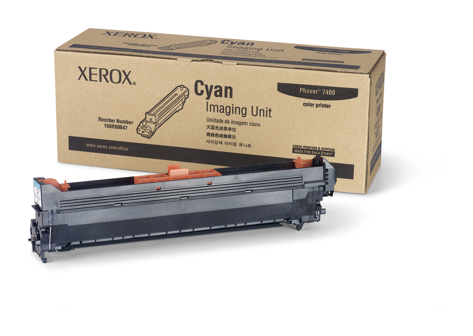 Xerox 108R00647 (108R647) Cyan OEM Drum Unit