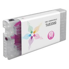 Compatible Replacement for Epson T653300 (T6533) Vivid Magenta 200ml Ink Cartridges for the Stylus Pro 4900