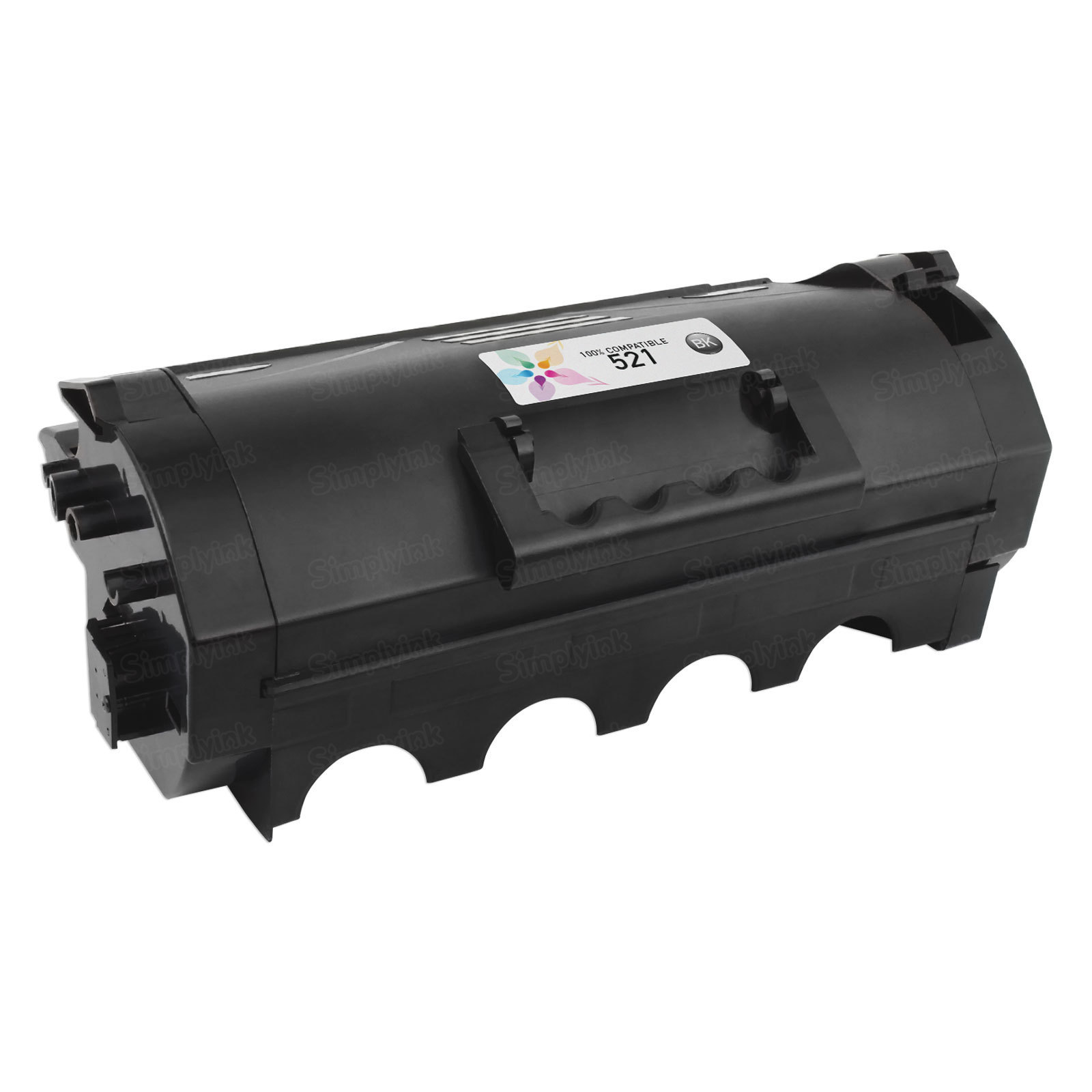 Compatible 521 Black Toner for Lexmark