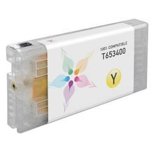 Compatible Replacement for Epson T653400 (T6534) Yellow 200ml Ink Cartridges for the Stylus Pro 4900