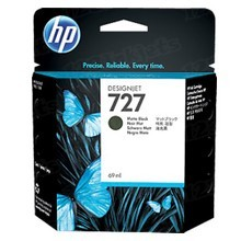 Original HP 727 Matte Black Ink Cartridge in Retail Packaging (C1Q11A)