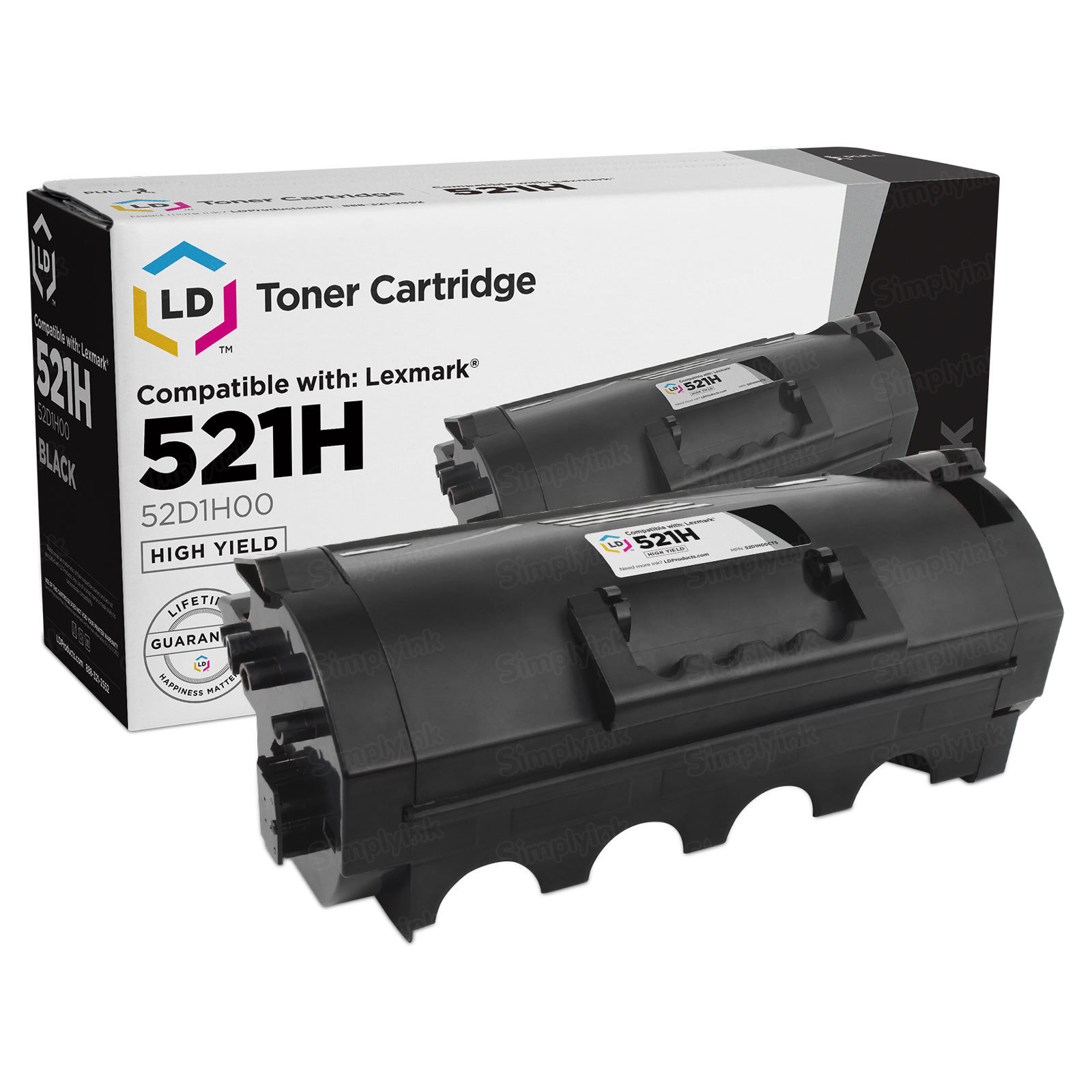 Compatible 521H HY Black Toner for Lexmark