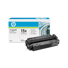 HP 15X (C7115X) Black High Yield Original Toner Cartridge in Retail Packaging