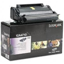 Lexmark OEM Black Return Program Laser Toner Cartridge, 12A4710 (6K Page Yield)