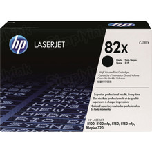HP 82X (C4182X) Black High Yield Original Toner Cartridge in Retail Packaging
