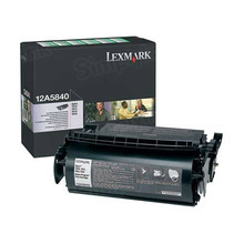 Lexmark OEM Black Return Program Laser Toner Cartridge, 12A5840 (614/T610/T614 Series) (10K Page Yield)