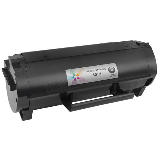 Compatible 501X Extra HY Black Toner for Lexmark