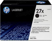 HP 27X (C4127X) Black High Yield Original Toner Cartridge in Retail Packaging
