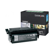 Lexmark OEM High Yield Black Return Program Laser Toner Cartridge, 12A5845 (614/T610/T614 Series) (25K Page Yield)