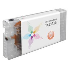 Compatible Replacement for Epson T653A00 (T653A) Orange 200ml Ink Cartridges for the Stylus Pro 4900