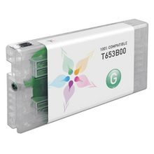 Compatible Replacement for Epson T653B00 (T653B) Green 200ml Ink Cartridges for the Stylus Pro 4900