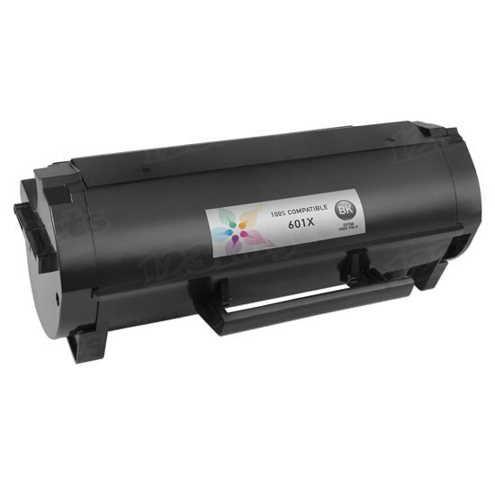 Compatible 601X Extra HY Black Toner for Lexmark