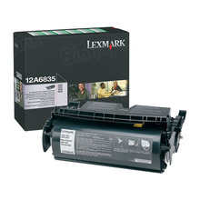 Lexmark OEM High Yield Black Return Program Laser Toner Cartridge, 12A6835 (20K Page Yield)
