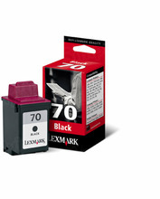 Lexmark #70 Black Inkjet Cartridge, OEM 12A1970
