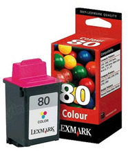 Lexmark #80 Color Inkjet Cartridge, OEM 12A1980