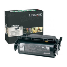 Lexmark OEM High Yield Black Return Program Laser Toner Cartridge, 12A6865 (T620/T622/X620 Series) (30K Page Yield)