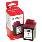 Lexmark #90 Photo Color Inkjet Cartridge, OEM 12A1990