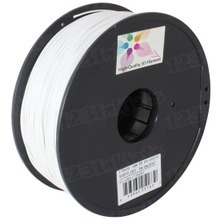 White 3D Printer Filament 1.75mm 1kg ABS