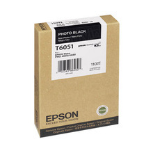 Original Epson T605100 Photo Black 110 ml Inkjet Cartridge (T6051)