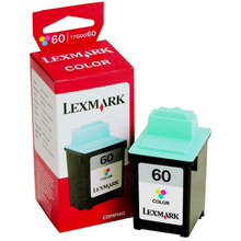 Lexmark #60 Color Inkjet Cartridge, OEM 17G0060