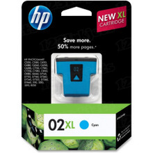 Original HP 02XL Cyan Ink Cartridge in Retail Packaging (C8730WN) High-Yield