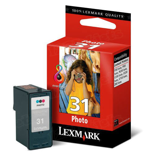 Lexmark 31 Photo Color OEM Ink Cartridge (18C0031)