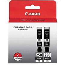 Canon PGI-250XL Black OEM High-Yield Ink Cartridge 2-Pack, 6432B004