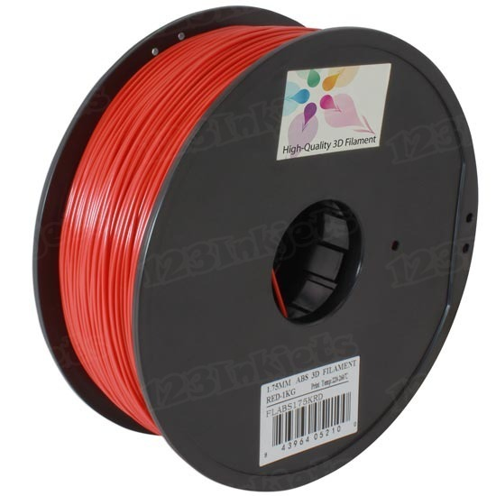 Spool of Red 1.75mm 1kg ABS Filament