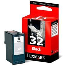 Lexmark #32 Black Inkjet Cartridge, OEM 18C0032