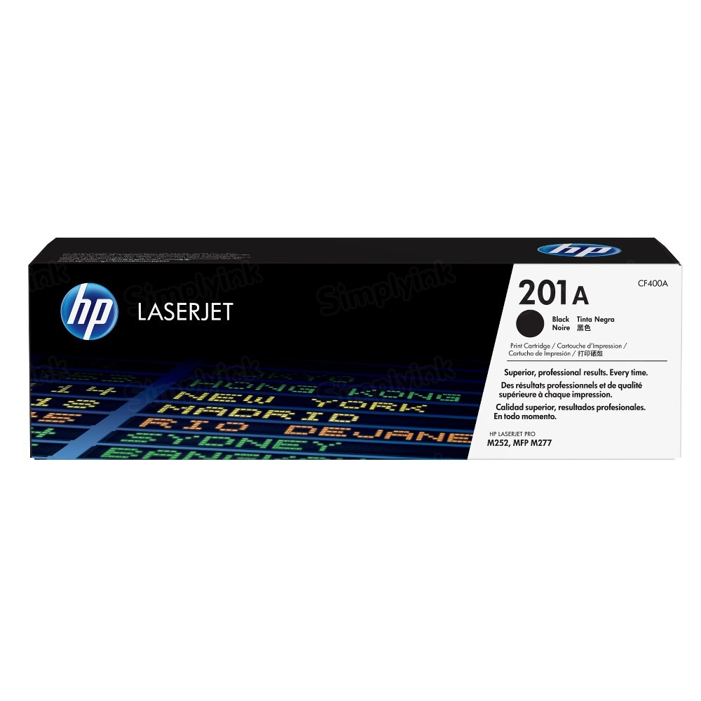 Original HP CF400A (201A) Black Toner