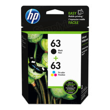 OEM HP L0R46AN (63) Black and Tri-color Ink in Retail Packaging 2-Pack