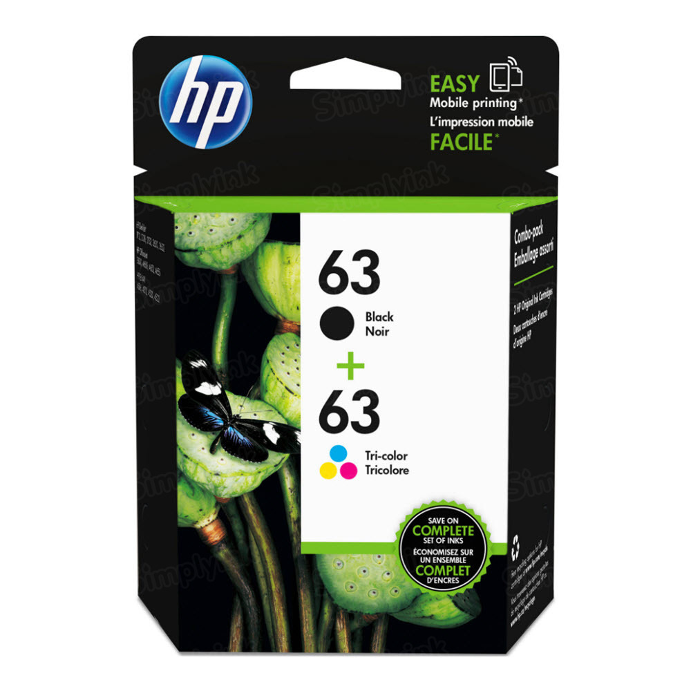HP OEM L0R46AN Black and Tri-color Ink 63 2-Pack