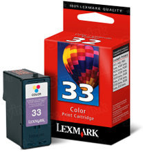 Lexmark #33 Color Inkjet Cartridge, OEM 18C0033