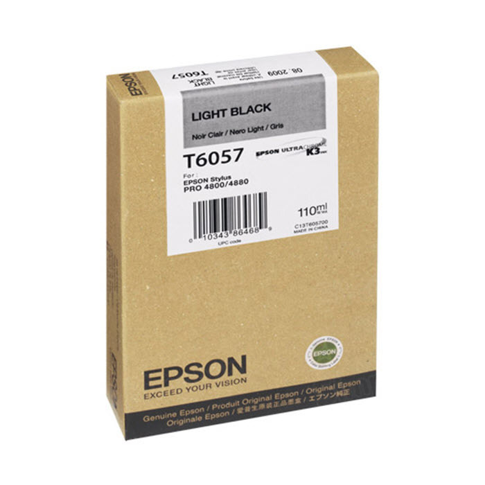 Epson T605700 Light Black OEM Ink Cartridge