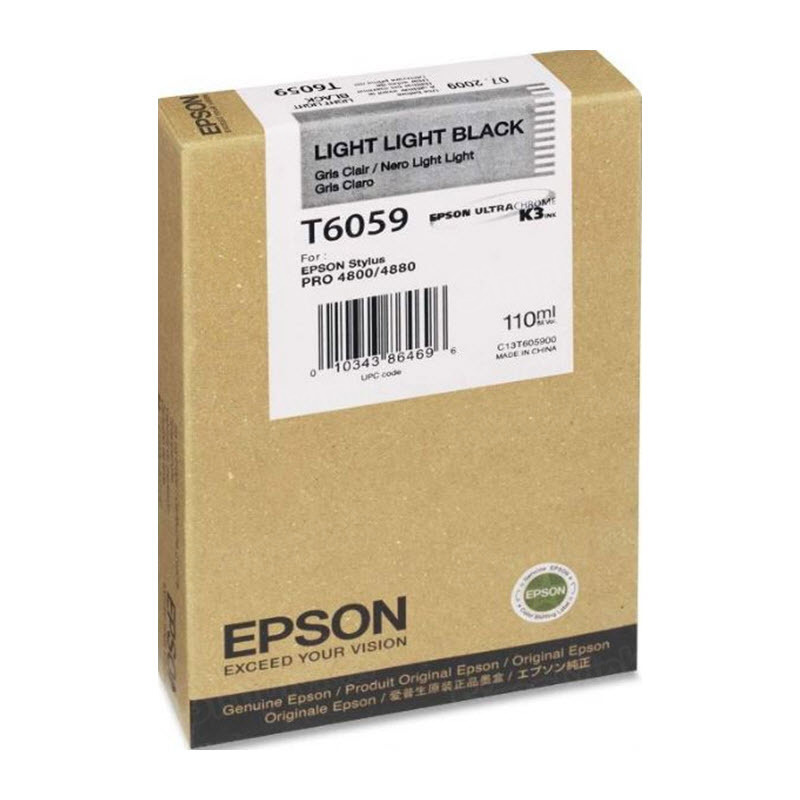 Epson T605900 Light Light Black OEM Ink Cartridge