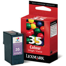 Lexmark #35 Tri-Color Inkjet Cartridge, OEM 18C0035