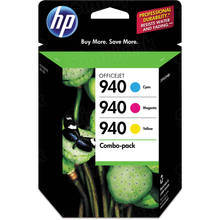 OEM HP CN065FN (940) Cyan, Magenta And Yellow Ink in Retail Packaging 3-Pack