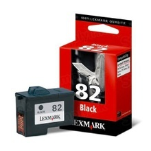 Lexmark #82 Black Inkjet Cartridge, OEM 18L0032