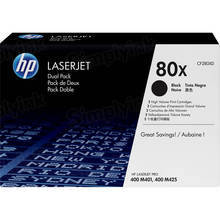 OEM HP 80X High Yield Black Toner (CF280XD) 2-Pack